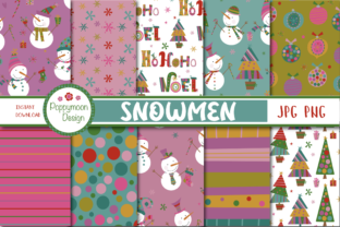 Snowmen Paper Graphic By poppymoondesign