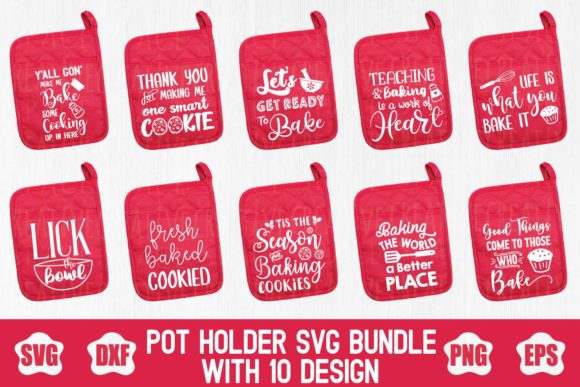Pot Holder Bundle Graphic Crafts By creativespace - Image 1