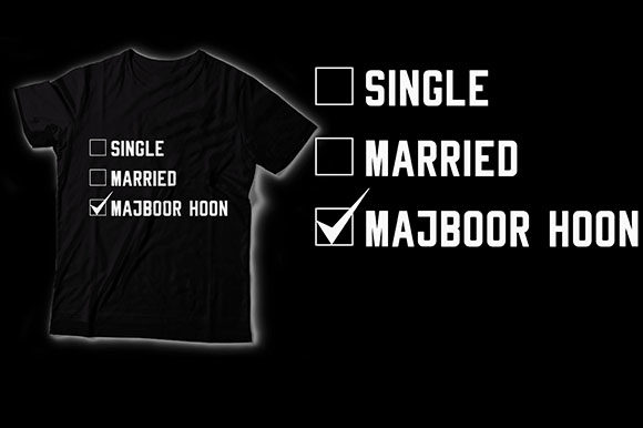 Single Married Graphic Crafts By HASSHOO