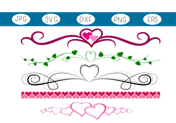 Print on Demand: Heart Dividers Graphic Illustrations By CapeAirForce