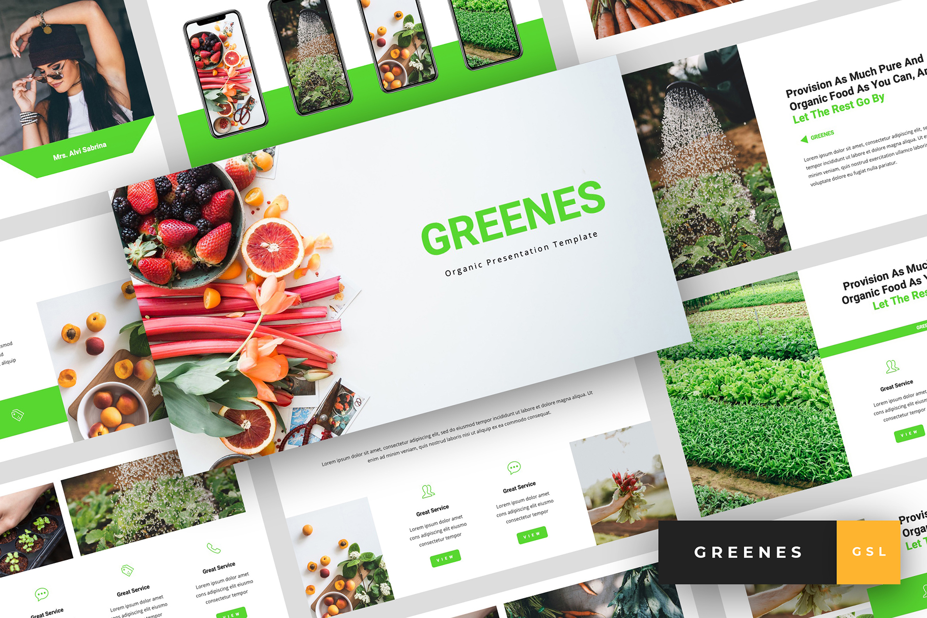 Download Free Greenes Organic Google Slides Graphic By Stringlabs Creative for Cricut Explore, Silhouette and other cutting machines.