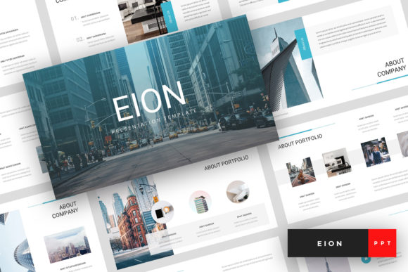 Eion - Corporate PowerPoint Graphic Presentation Templates By StringLabs