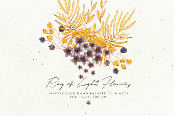 Print on Demand: Ray of Light Flowers Grafik Illustrationen von webvilla