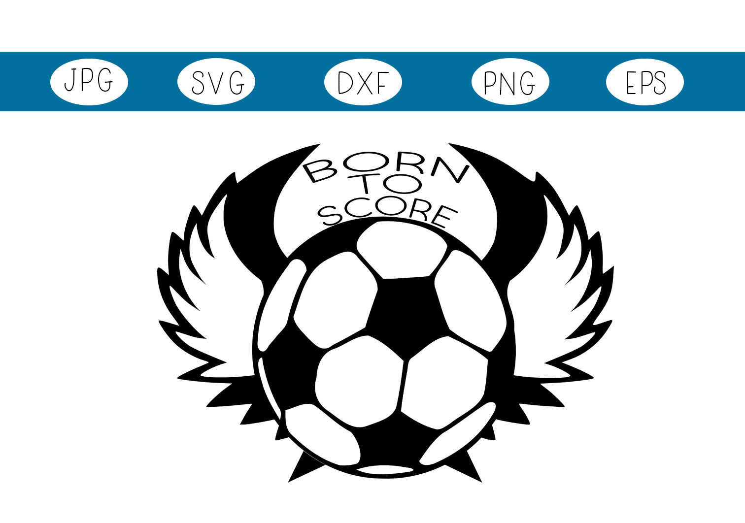 Download Free Soccer Ball With Wings Graphic By Capeairforce Creative Fabrica for Cricut Explore, Silhouette and other cutting machines.