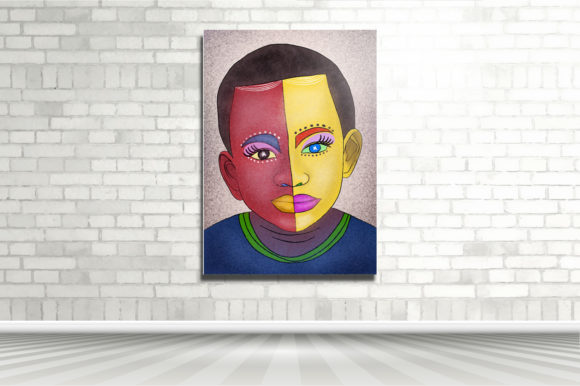 Print on Demand: The Two Face of Boy Graphic Illustrations By kudocreative