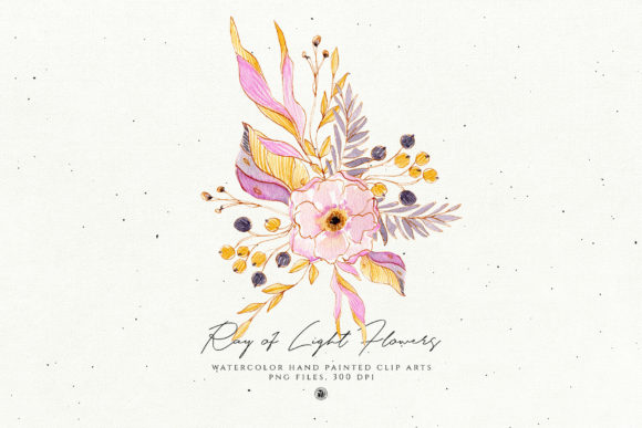 Print on Demand: Ray of Light Flowers Graphic Illustrations By webvilla - Image 2