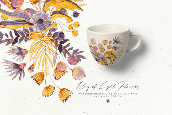 Print on Demand: Ray of Light Flowers Graphic Illustrations By webvilla - Image 3
