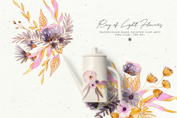 Ray of Light Flowers Graphic Illustrations By webvilla - Image 5