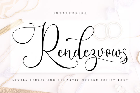 Print on Demand: Rendezvouws Script & Handwritten Font By Vunira