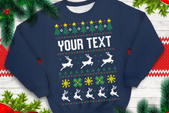 Print on Demand: Ugly Sweater Template 19 Graphic Print Templates By svgsupply