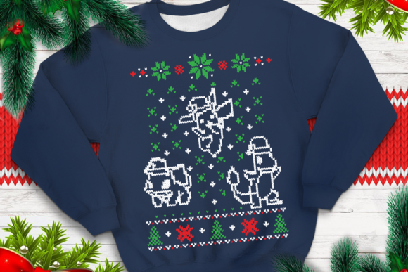 Print on Demand: Ugly Sweater Template 37 Graphic Print Templates By svgsupply