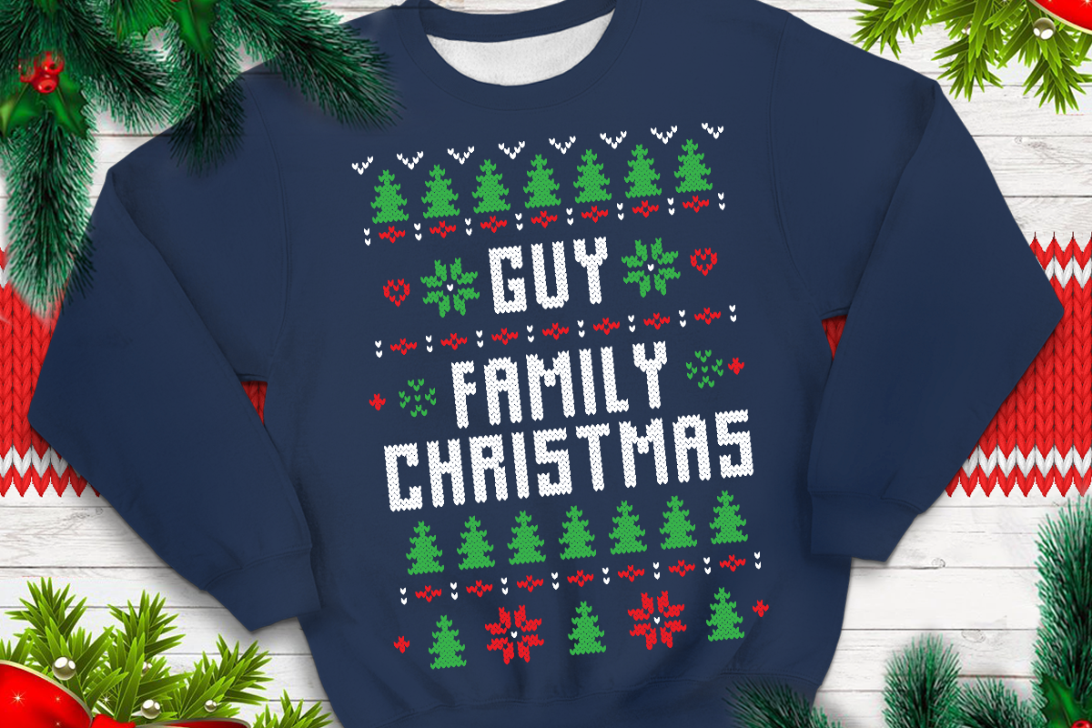 Download Free Guy Family Christmas Graphic By Svgsupply Creative Fabrica for Cricut Explore, Silhouette and other cutting machines.