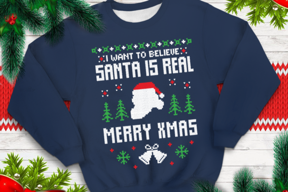 Download Free I Want To Believe Santa Is Real Graphic By Svgsupply Creative for Cricut Explore, Silhouette and other cutting machines.