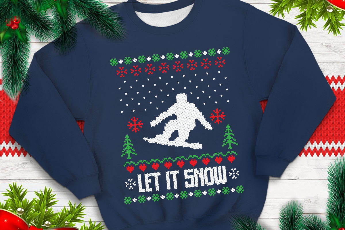 Download Free Let It Snow Graphic By Svgsupply Creative Fabrica for Cricut Explore, Silhouette and other cutting machines.