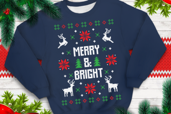 Print on Demand: Merry & Bright Graphic Print Templates By svgsupply