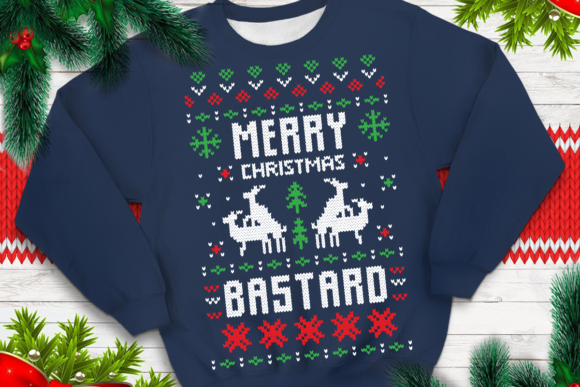 Print on Demand: Merry Christmas Bastard Graphic Print Templates By svgsupply