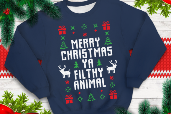 Merry Christmas Ya Filthy Animal.Merry Christmas Ya Filthy Animal Graphic By Svgsupply Creative Fabrica