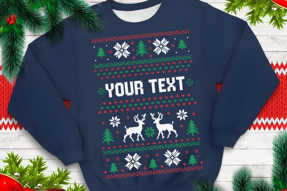 Download Free Ugly Sweater Template 1 Graphic By Svgsupply Creative Fabrica for Cricut Explore, Silhouette and other cutting machines.