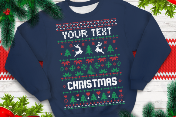 Print on Demand: Ugly Sweater Template 2 Graphic Print Templates By svgsupply