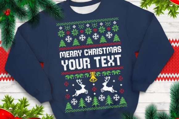 Print on Demand: Ugly Sweater Template 3 Graphic Print Templates By svgsupply