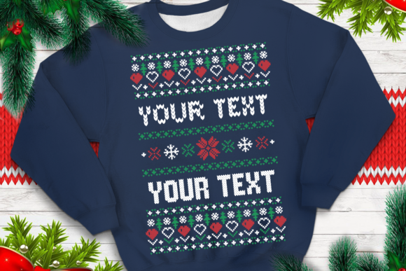 Print on Demand: Ugly Sweater Template 5 Graphic Print Templates By svgsupply