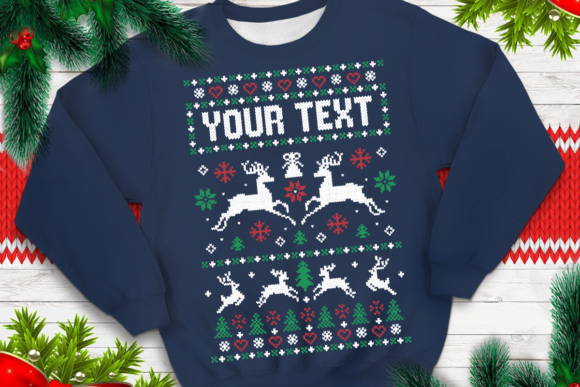 Print on Demand: Ugly Sweater Template 6 Graphic Print Templates By svgsupply