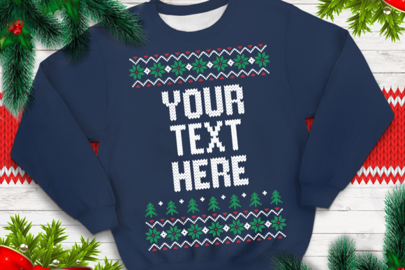 Print on Demand: Ugly Sweater Template 10 Graphic Print Templates By svgsupply