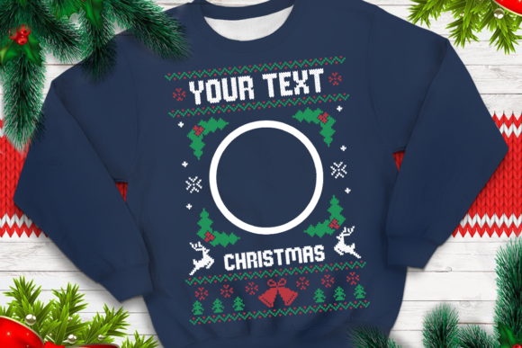 Print on Demand: Ugly Sweater Template 12 Graphic Print Templates By svgsupply