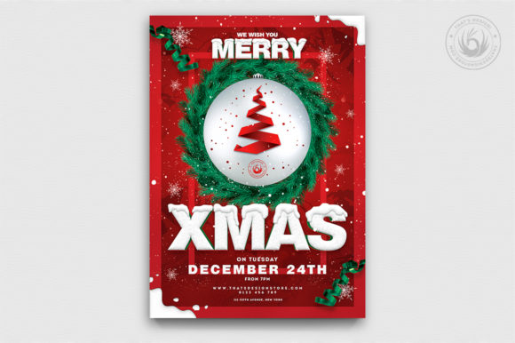 Christmas Eve Flyer Template V11 Graphic By ThatsDesignStore
