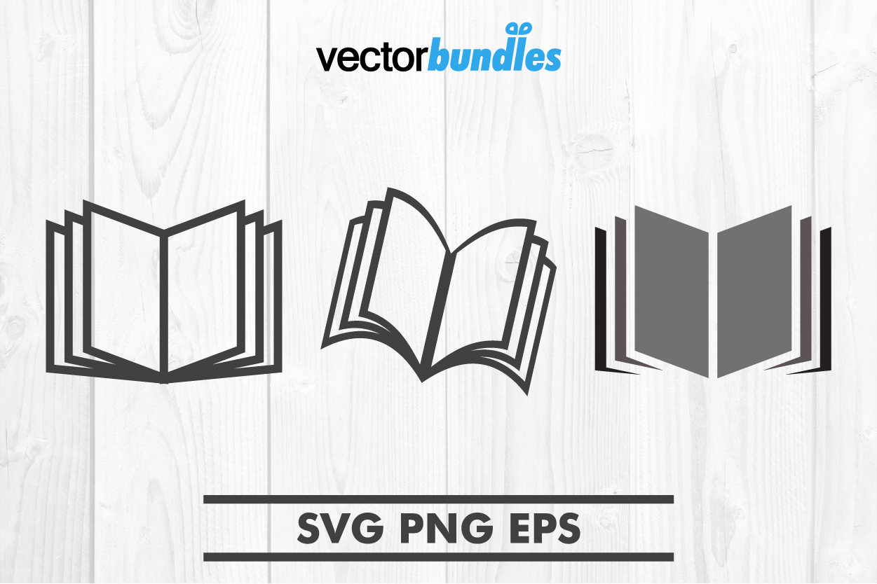 Download Free Book Clip Art Svg Graphic By Vectorbundles Creative Fabrica for Cricut Explore, Silhouette and other cutting machines.