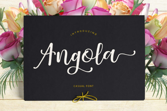 Print on Demand: Angola Script & Handwritten Font By Stripes Studio