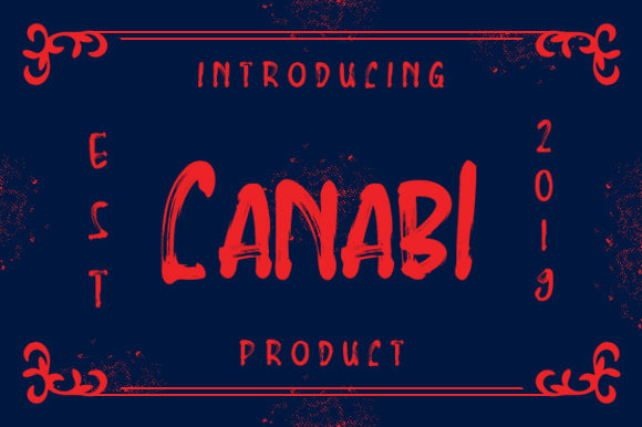Print on Demand: Canabi Display Font By kokostd