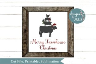 Merry Farmhouse Christmas Graphic By Designs by Jolein