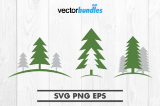 Pine Tree Clip Art Svg Graphic By Vectorbundles Creative Fabrica