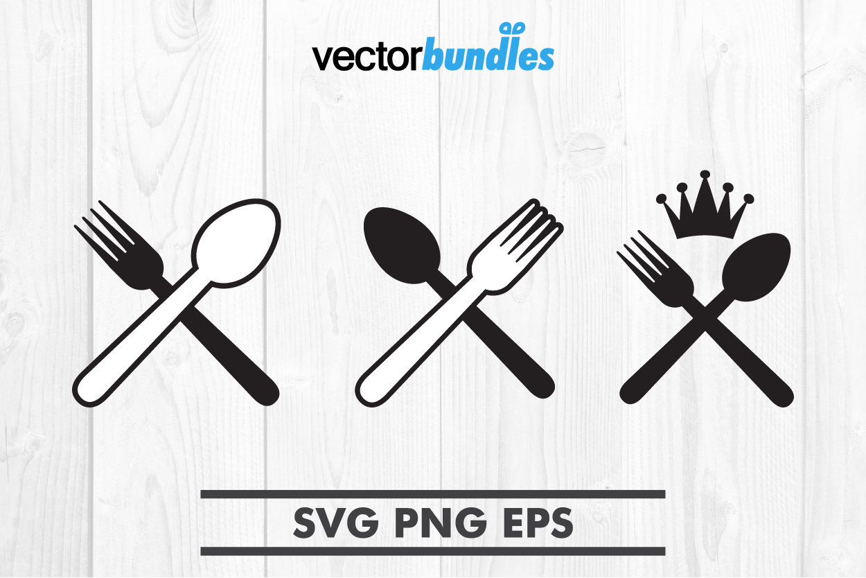 Download Free Spoon Fork Clip Art Svg Graphic By Vectorbundles Creative Fabrica for Cricut Explore, Silhouette and other cutting machines.