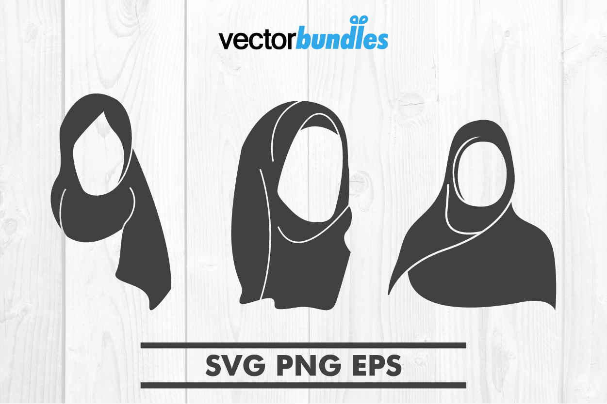 Download Free Hijab Clip Art Svg Graphic By Vectorbundles Creative Fabrica for Cricut Explore, Silhouette and other cutting machines.