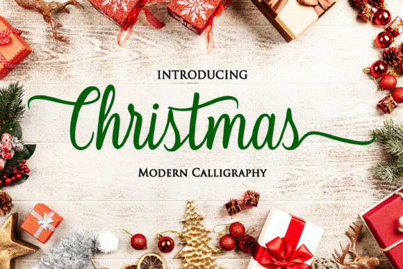 Print on Demand: Christmas Script & Handwritten Font By Letterdreams