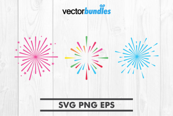 Download Free Fireworks Clip Art Svg Graphic By Vectorbundles Creative Fabrica for Cricut Explore, Silhouette and other cutting machines.