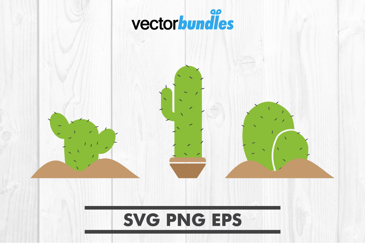 Download Free Cactus Clip Art Svg Graphic By Vectorbundles Creative Fabrica for Cricut Explore, Silhouette and other cutting machines.
