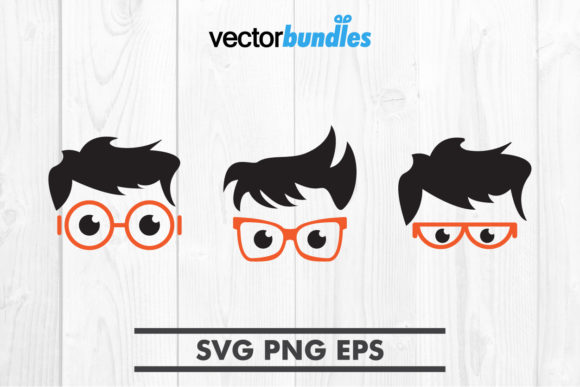 Download Free Nerd Clip Art Svg Graphic By Vectorbundles Creative Fabrica for Cricut Explore, Silhouette and other cutting machines.