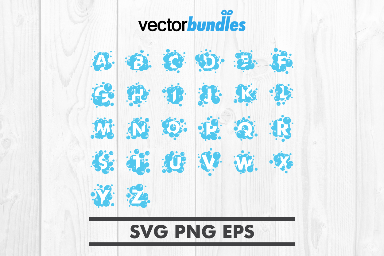 Download Free Alphabet Bubble Clip Art Svg Graphic By Vectorbundles Creative for Cricut Explore, Silhouette and other cutting machines.