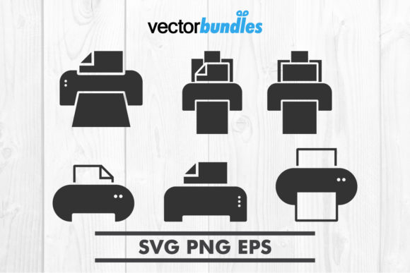 Download Free Printer Clip Art Svg Graphic By Vectorbundles Creative Fabrica for Cricut Explore, Silhouette and other cutting machines.