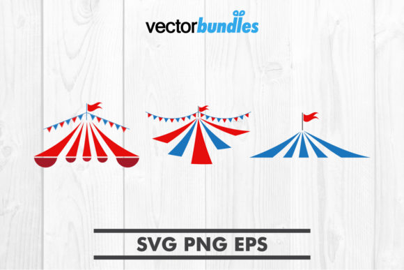 Download Free Circus Tent Clip Art Svg Graphic By Vectorbundles Creative Fabrica for Cricut Explore, Silhouette and other cutting machines.