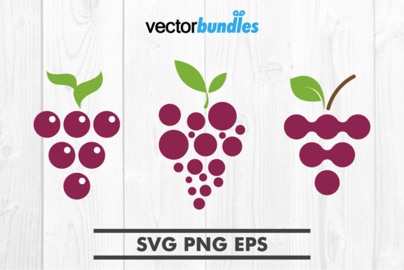 Download Free Grapes Fruit Clip Art Svg Graphic By Vectorbundles Creative for Cricut Explore, Silhouette and other cutting machines.