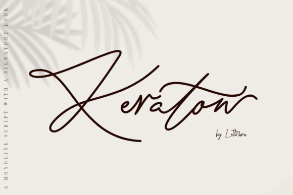 Print on Demand: Keraton Script & Handwritten Font By thomasaradea