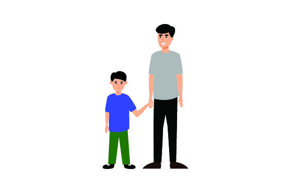 Download Free Dad Holding Son S Hand Svg Cut File By Creative Fabrica Crafts for Cricut Explore, Silhouette and other cutting machines.