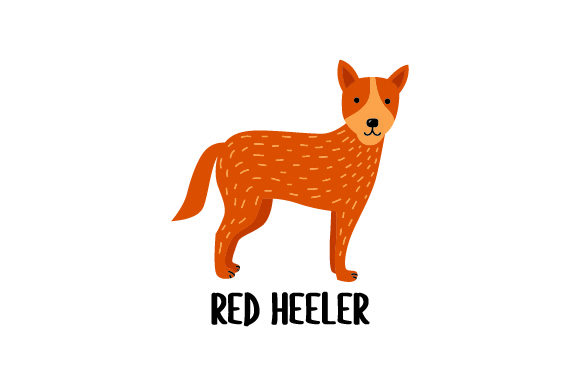 Red Heeler Dogs Craft Cut File By Creative Fabrica Crafts - Image 1