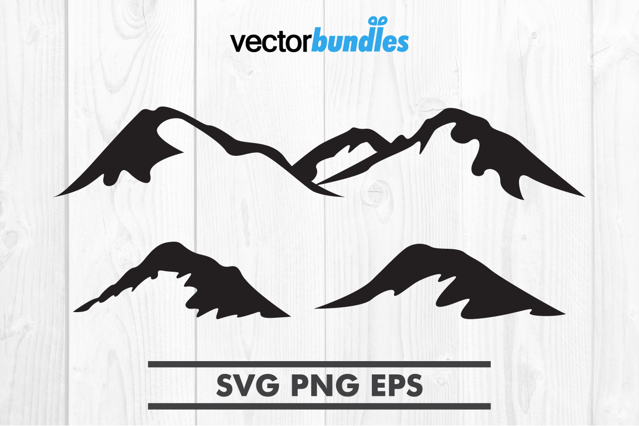 Download Free Mountain Nature Clip Art Svg Graphic By Vectorbundles Creative for Cricut Explore, Silhouette and other cutting machines.