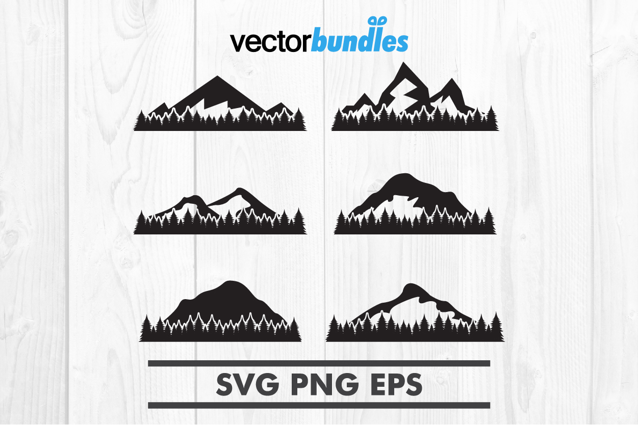 Download Free Mountain Forest Clip Art Svg Graphic By Vectorbundles Creative for Cricut Explore, Silhouette and other cutting machines.