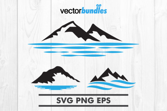 Download Free Mountain Lake Clip Art Svg Graphic By Vectorbundles Creative for Cricut Explore, Silhouette and other cutting machines.